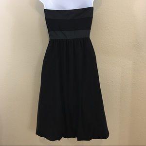 White House Black Market Dresses - WHBM Strapless Silk Bubble Dress